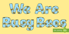 Busy Bee's Monitor Display Lettering