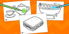 Tiger Tea Story Colouring Sheets