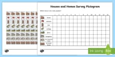 Houses and Homes Pictograms Type of House Activity Sheet
