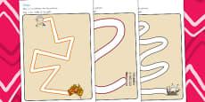 Australia - Aboriginal and Torres Strait Islander People Pencil Control Path Activity Sheets