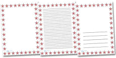 Starfish Portrait Page Borders
