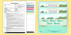 Row, Row, Row Your Boat Parachute Activity EYFS Adult Input Plan and Resource Pack