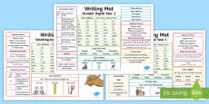 Year 1 Differentiated Writing Mat