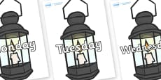 Days of the Week on Lamps
