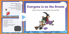 Everyone is on the Broom Song PowerPoint to Support Teaching on Room on the Broom