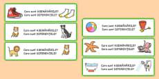 Asemănări și diferențe - Joc cu cartonașe ilustrate