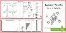 Valentine's Day Themed Activity Book French