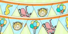 Under the Sea Themed Birthday Party Picture Bunting