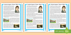 Scottish Engineer Thomas Telford Differentiated Fact File