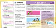 History: The Maya Civilisation UKS2 Planning Overview CfE