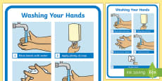 Washing Your Hands Display Poster