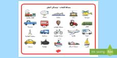 Transport Word Mat Arabic