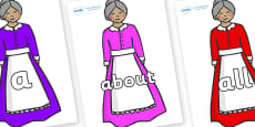 100 High Frequency Words on Old Mother Hubbard