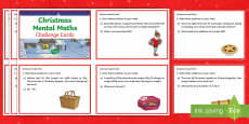 Year 3 Christmas Mental Maths Challenge Cards