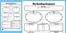 Reading Response Graphic Organiser Activity Sheet