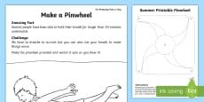 Make a Pinwheel Activity Sheet