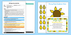 EYFS Missing Petals Sunflower Finger Gym Plan and Resource Pack