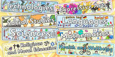 Curriculum for Excellence Subject Labels