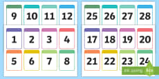 * NEW * Number Cards 0-30 Printable Number Cards