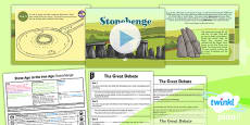 History: Stone Age to the Iron Age: Stonehenge UKS2 Lesson Pack 4