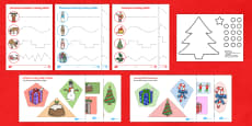 Christmas Cutting Skills Activity Pack