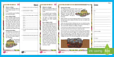 The Hangi Differentiated Reading Comprehension Activity