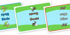 Editable Class Group Table Signs (Animals)