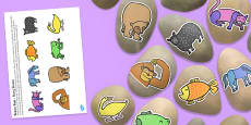 Story Stone Cut Outs to Support Teaching on Brown Bear
