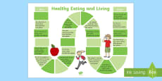 Healthy Eating and Living Board Game