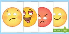 Emoticon Face Role Play Masks