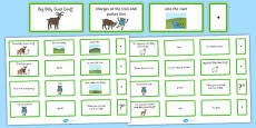The Three Billy Goats Gruff Sentence Building Cards