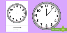 Blank Analogue Cut-Out Clocks (with hands)