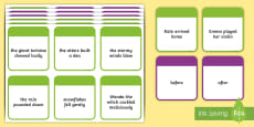 KS2 Time Conjunctions Number 1 Card Game
