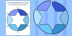 Cut and Assemble Star of David Activity