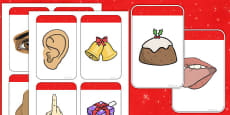 Five Senses Matching Cards (Christmas)