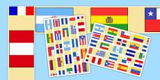Spanish Speaking Countries Flag Display Border