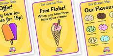 Ice Cream Van Role Play Posters