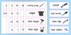 Hairdressers / Salon Role Play Word Cards