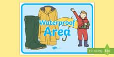 Waterproof Area Display Sign