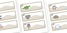 Buzzard Themed Editable Drawer-Peg-Name Labels