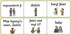 Greetings A5 Flashcards Cymraeg