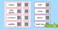 Earth and Space Vocabulary Code Hunter