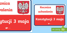 Plakat Rocznica uchwalenia Konstytucji 3 maja