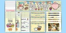 Tea Shop Role Play Pack