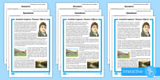 Scottish Engineer Thomas Telford Differentiated Go Respond Activity Sheets