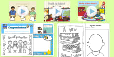 CfE Early Level First Day at School Resource Pack
