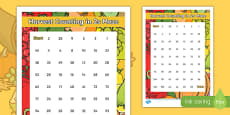Harvest Counting in 2s Maze Activity Sheet