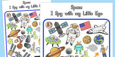 Australia - Space Themed I Spy With My Little Eye Activity