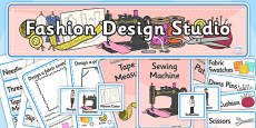 Fashion Design Studio Role Play Pack