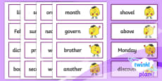 PlanIt English Additional Resources Year 3 Term 3A Word Cards